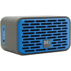 Mb Quart Dual-driver Bluetooth Speaker (gray Rubber Cover & Blue Grille)