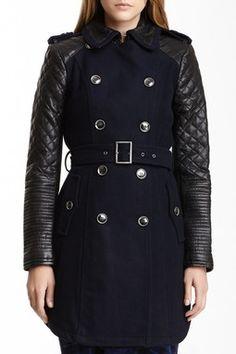 HauteLook | BCBGMAXAZRIA Outerwear: Wool Blend Trench Coat
