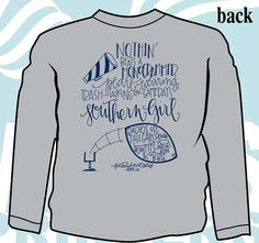 This Feathered Nest Boutique exclusive tee says it all.... Nothin' beats a monogrammed, pearl-wearing, trash-talking-on-game-day Southern Girl! This Southern Girls & Football tee that features your custom embroidered monogram on the front left chest pocket of this Light Gray colored shirt. We even offer a Game Day Monogram style that features two thread colors so you can flaunt your team's colors