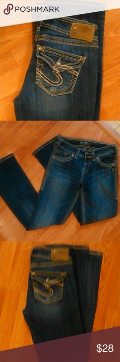 "Silver brand jeans NICE!! Silver brand jeans suki 17""surplus style size 25W 31L very nice condition!! Could fit girls 14/16 long Silver Jeans Jeans Boot Cut"