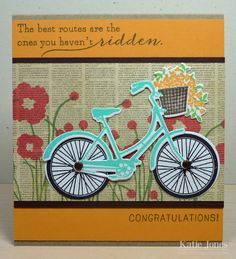 One of our beloved teachers retired this week. I made this fun card for her as she sets off on new adventures. The text patterned pap...