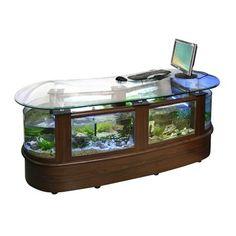 aquarium office table office desk aquarium