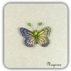 STICKER PAPILLON SOIE 3.5 CM VERT VIOLET - Boutique www.magicreation.fr