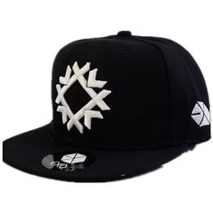 K-pop Exo All Stars Support New Overdose Snapback Cap Embroidery Hat ❤ liked on Polyvore featuring accessories, hats, baseball snapback hats, embroidered hats, cap snapback, ball cap and baseball hats