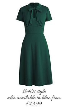 Couldn't believe this price. Great dress for a 1940s look #1940sfashion #wartimefashion ##ad #greendress #retrostyle