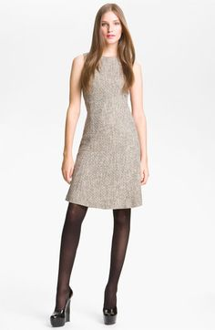 If you can only buy one dress... Theysken's Theory golden yarns in neutral tweed.  Dress up, dress down, layer over it.
