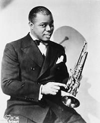 The 20's was the jazz age. After they started treating African Americans like human beings, people liked the music they listened to and it broke out and then that's all they played at bars and dances. A famous jazz player was Louis Armstrong and he is still listened to today.