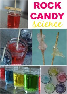 Rock Candy Science Experiment for Kids! So cool!