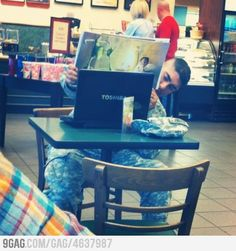 This soldier was reading a storybook to his child over Skype