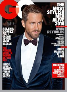 Leading man: Ryan Reynolds covered May's GQ as one of the year's most fashionable men...
