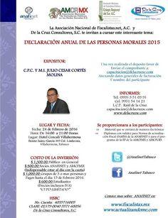 """""""DECLARACIÓN ANUAL DE LAS PERSONAS MORALES 2015"""" http://actualizandome.com/th_event/declaracion-anual-de-las-personas-morales-2015/ #fb #cptwitter"""