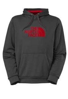 The North Face Men's Surgent Hoodie in Asphalt Grey and Red