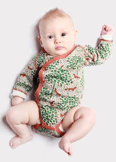 Modeerska Huset - Body – Surt sa räven - Ziggys barnkläder. Ekologisk och handtryckt. Modeerska Huset - body - Sour said the fox. Handprinted and organic.