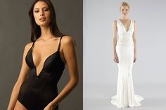 What to wear under gown with a plunging neckline