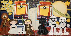 Precious Memories by Julie: May the Force Be With You-Star Wars Inspired Layout Handmade Scrapbook, Kids Scrapbook, Disney Scrapbook, Scrapbook Paper Crafts, Scrapbooking Ideas, Scrapbook Sketches, Scrapbook Page Layouts, Scrapbook Pages, Summer Preschool Activities