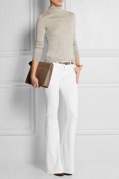 Jean blanc taille haute Le High Flare - Frame Denim