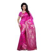 Banarasi Silk Pink J...