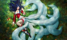 Ahri - LoL contest/Polycount by alexnegrea on DeviantArt