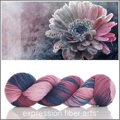 FROZEN IN TIME Limited Edition 'RESILIENT' SOCK YARN by expression fiber arts