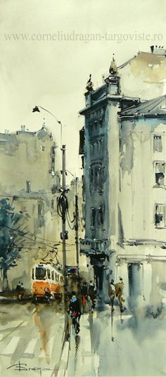 Artist: Corneliu Drăgan-Târgoviște is a member of the Birmingham Watercolour Society, and the first Romanian painter chosen to be part of this organization.