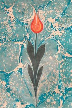 Ebru traditional Turkish painting style - 5 minute video on How to do Ebru painting