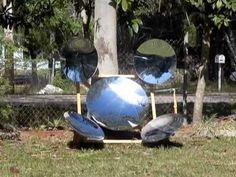 Parabolic Mirror Array Solar Powerhouse SPOTLIGHT FIRE