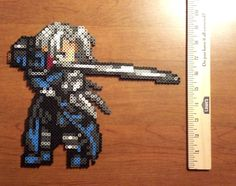 Sephiroth perler sprite from Final Fantasy 7 by Hirosspriteshop, $15.00