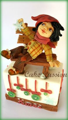 Let It Snow - by CakePassion @ CakesDecor.com - cake decorating website