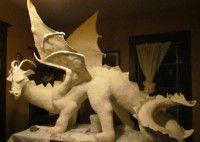 Paper Mache Dragon Sculpture