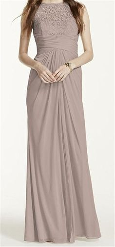 Adrianna Papell V-Neck Lace Detail Gown Women - Dresses - Evening & Formal Gowns - Bloomingdale's Mob Dresses, Bridesmaid Dresses, Bride Dresses, Prom Dress, Wedding Dresses, Drape Gowns, Thing 1, Pink Gowns, Lace Evening Dresses