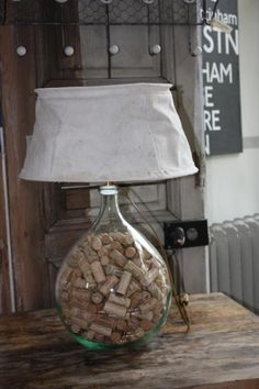 Meuble relooké : LAMPE DAME JEANNE, Lampes de chevet, de salon, Industriel et meubles de métier