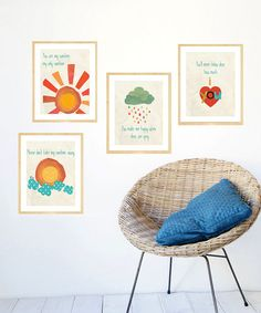 My Sunshine Print Set by Children Inspire Design on #zulily today! Bought 'em...can't wait to hang 'em up!!
