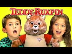 Kids React to the Classic Teddy Ruxpin Animatronic Toy Bear From the 1980s
