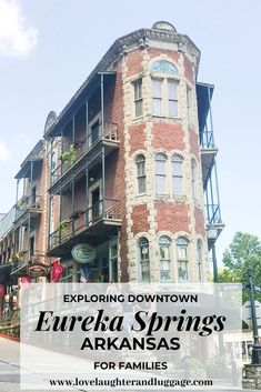 If you're looking for a fun destination in the Ozarks take a look at Eureka Springs Arkansas in the U. Near Branson Missouri this historic town will win you over. Eureka Springs is a great destination for friends couples and families! Usa Travel Guide, Travel Usa, Travel Guides, Travel Tips, Budget Travel, Arkansas Vacations, Michigan Travel, Eureka Springs Arkansas, Places To Travel