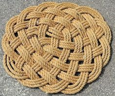 62 Best Rope mats images | Rope crafts, Knots, Rope rug