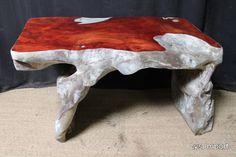 Bureau / Apercu n 1 Narra root desk Consoles, Tree Table, Wood Slab, Woodworking, Carving, Desk, Furniture, Home Decor, Wooden Surfboard