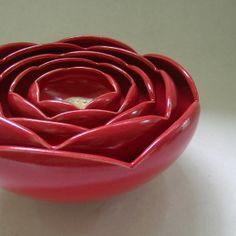 Ranunculus Rose Flower Ceramic Bowls!