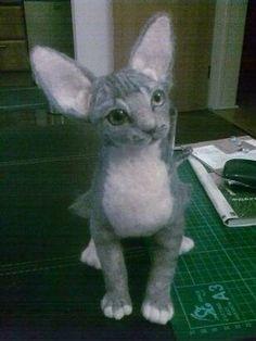 Kawaii Felted Figures Cat