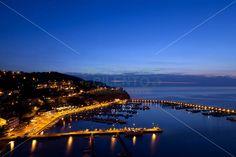 Cilento (Italy) - Il porto di Agropoli di notte, tra magiche luci e atmosfere estive #cilento