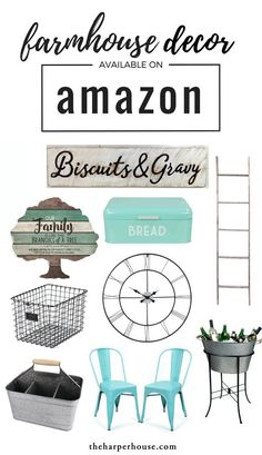 Affordable farmhouse decor on Amazon can help you achieve that Fixer Upper style we all know and love! I love shopping for home decor on Amazon in the comfort of my jammies :) More links on the blog www.theharperhous...