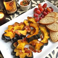Roasted Squash with Bacon & Maple