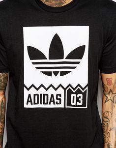 Image 3 of adidas Originals T-Shirt With Street Graphic AJ7719