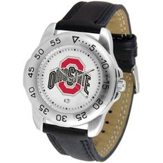 Ohio State Buckeyes Suntime Mens Sports Watch w/ Leather Band - NCAA College Athletics by SunTime. $44.95. A true sports person's watch, the Sport features: a durable rotating timer/bezel, stainless steel finish, scratch resistant crystal, quartz accurate movement, color coordinated leather strap, date function and a big, bold California State (Northridge) Matadors team logo on the dial. Wear it to a game, while watching a game or just to show off your NCAA pride wherever you go!
