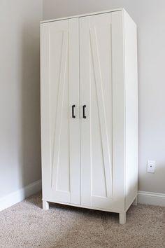 IKEA Hack: Aneboda Wardrobe. How to DIY a farmhouse style wardrobe from an IKEA wardrobe