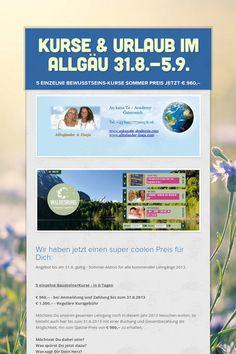 Kurse & Urlaub im Allgäu 31.8.-5.9.