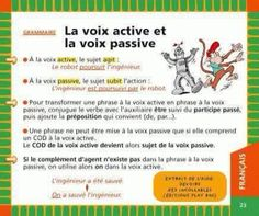 La voix active et la voix passive !!