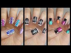 Easy Nail Art For Beginners!!! #16 | MissJenFABULOUS - YouTube