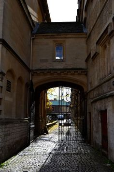 Logic Lane covered bridge is a small covered bridge at the High Street end of Logic Lane, within University College, Oxford, England.