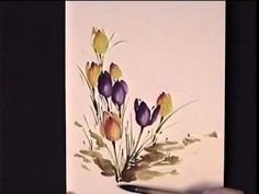 Flower in a Basket using Watercolors by Susan Scheewe - YouTube