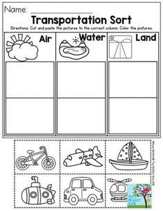 Transportation Worksheets for Kindergarten. 20 Transportation Worksheets for Kindergarten. Transportation Theme Preschool, Transportation Worksheet, Preschool Themes, Preschool Lessons, Preschool Classroom, Preschool Learning, Kindergarten Worksheets, In Kindergarten, Preschool Crafts